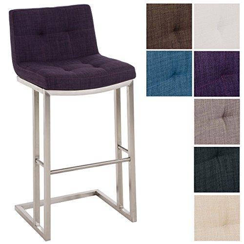 preisvergleich clp edelstahl barhocker carlton mit stoffbezug i willbilliger. Black Bedroom Furniture Sets. Home Design Ideas