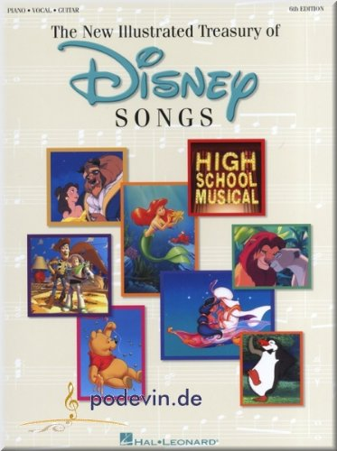 Gitarre Und Klavier Für Noten (The New Illustrated Treasury of Disney Songs - Songbook Klavier, Gesang & Gitarre Noten [Musiknoten])