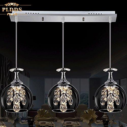 LED-Leuchten Restaurant Esszimmer Bartisch Lampenschirm kreative Persönlichkeit drei post-modern minimalistische Kristall hängen