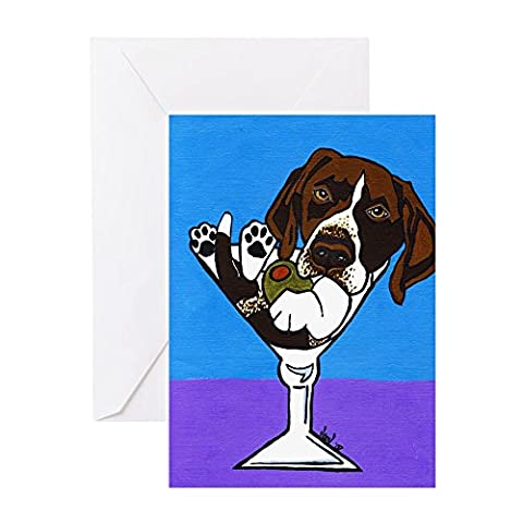 CafePress - German Shorthair Pointer Greeting Cards (Package O - Greeting Card (10-pack), Note Card with Blank Inside, Birthday Card