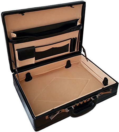 Professionnel Mallette Attaché-Case Extensible en Cuir...