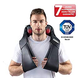Klopfy Nackenmassagegerät Donnerberg München Klopfmassagegerät für Shiatsu und Klopfmassage 4D - Massagegerät mit Infrarotwärme TÜV Süd 7 Jahre Garantie