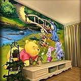 Carta da parati sfondo wall_girl cute cartoon autoadesivo Winnie the Pooh boy camera da letto sfondo muro 3d murale carta da parati Carta Da Parati moderna 3D Fotomurali spiaggia-300cm×210cm