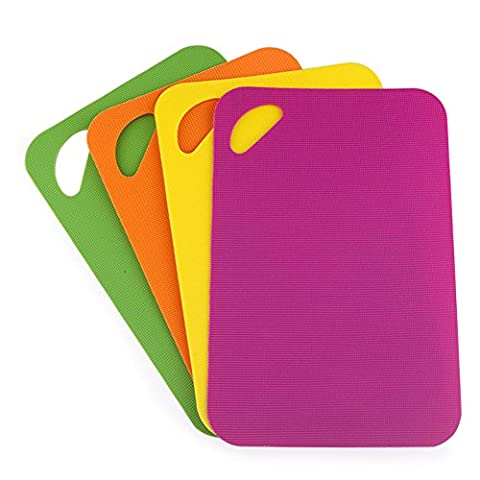 PP Cutting & Chopping Board Mats Set Of 4 - 2mm Nonslip Antimicrobial Chopping Board Set For Kitchen Tables & Countertops– FDA Approved & Food Safe & Dishwasher Safe