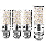 Lampadine LED di mais, E27 candelabro a LED da 15 W, 120W equivalenti a incandescenza, Bianca Calda 3000K 1500LM, CRI80+, non dimmerabile,Edison Lampadine Mais-4 pezzi