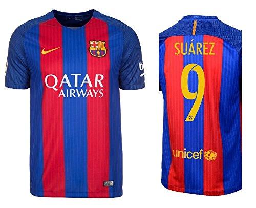 F.C. Barcelona Trikot Kinder 2016-2017 Home Qatar - Suarez 9 (140) -
