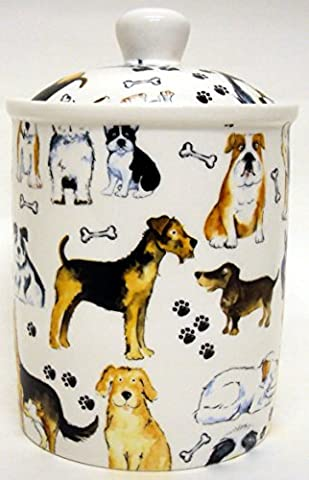 Dogs Collage Canister Fine Bone Dogs Collage Pet Food Treats
