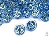 5 x Knopf Glitzer Stern blau 12,9mm Knöpfe Babyknöpfe Motivknöpfe Kunststoffknöpfe neu