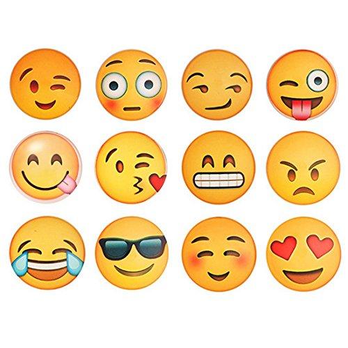 WEIZQ Magnete Smily Emoticon, 12 Stück Kühlschrankmagnete Smile Witzige Gute Laune Magnete