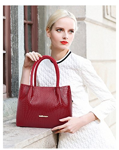 VOLSGEAT Borsa Messenger, White (bianco) - 54EC Red
