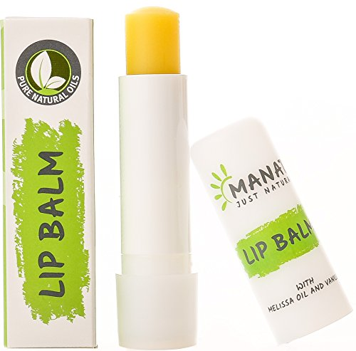 Natürliche Lippenpflege (Farbloser Lippenpflege-Stift von MANAT - Lip Balm Made in Germany - 100% natürlicher und 100% biologischer Lippenbalsam)