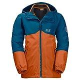 Jack Wolfskin Kinder B Iceland 3IN1 JKT 3-in-1-Jacke für Jungs Wasserdicht Winddicht Atmungsaktiv 3in1-jacke, Desert orange, 140