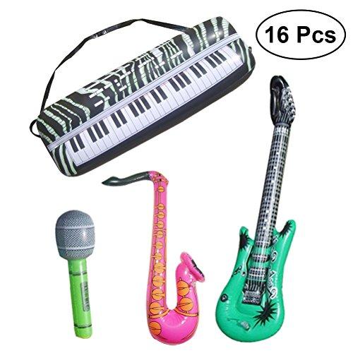 Toyvian Aufblasbare Musikinstrumente Blow Up Musical Spielzeug für Kinder Party Favor Spielzeug 16 STÜCKE