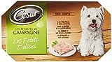 CESAR - Les recettes de campagne - Les petits délices 4 x 150g - 4 variétés en barquette pour chiens - Lot de 6