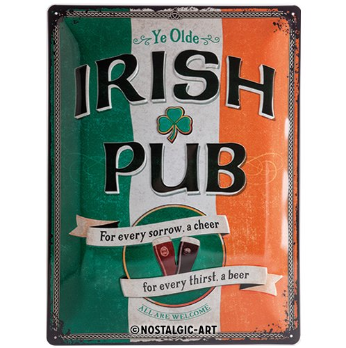 Open Bar - Irish Pub, Blechschild 30x40 cm ()