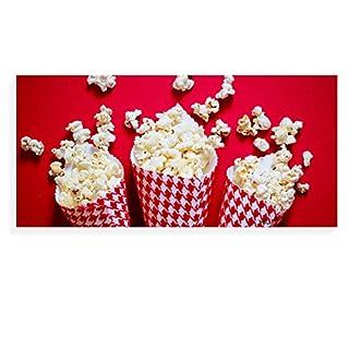 banjado - Scheibe zum Wechseln 56x26cm für Ikea Gyllen Leuchte Wandlampe Popcorntüten, Motivscheibe Wechselscheibe