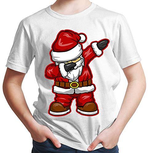 HARIZ  Jungen T-Shirt Dabbing Santa Weihnachtsmann Nikolaus Dab Teenager Dance Weihnachten Inkl. Geschenk Karte Rot 152/12-13 Jahre