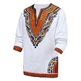 Dashiki Männer Hemd Afrikanischen Hippie - Vintage - Frauen Oben Haute Der Bluse (M)