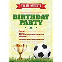EBS® FOOTBALL CHILDRENS BIRTHDAY PARTY INVITES INVITATIONS X 20 PACK
