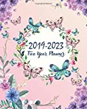 "2019-2023 Five Year Planner: Butterfly Cover 60 Months Planner and Calendar Agenda And Organizer 8"" x 10"" with holidays"