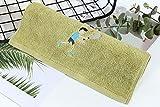 LybMaoJ Asciugamani in Cotone da Uomo e da Donna Sport in Cotone Assorbente del Sudore Doccia Lavare Grande, Tennis Verde, 110 * 35 cm