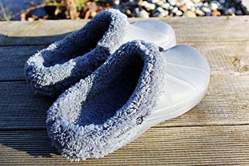 Zoccoli Pantofole Zoccoli Giardino Orologi Ciabatte Pantofole Pantofola Grigio Grigio