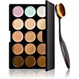 Internet Maquillage Cosmetic Blush Toothbrush Curve Foundation Brush + 15 couleurs Correcteur