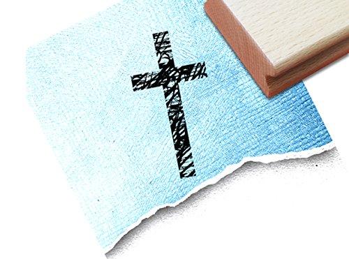 Stempel - Motivstempel KREUZ ✞ - Trauerstempel für Traueranzeigen Beileidsbekundungen Danksagungen - Bildstempel für Kommunion Taufe - von zAcheR-fineT