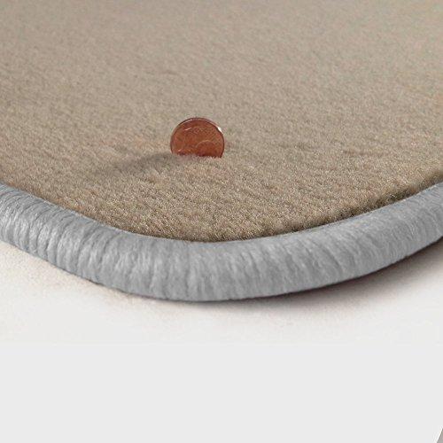 Preisvergleich Produktbild (Randfarbe nach Wahl) Passgenaue Fußmatten aus Velours Beige mit weißem Rand (100)