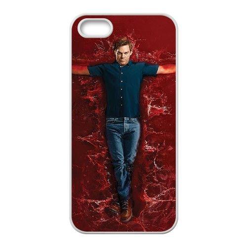 Dexter Blood coque iPhone 5 5S Housse Blanc téléphone portable couverture de cas coque EBDXJKNBO09677