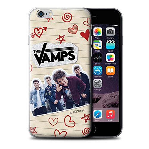 Offiziell The Vamps Hülle / Case für Apple iPhone 6S+/Plus / Pack 5Pcs Muster / The Vamps Doodle Buch Kollektion Rot Stift