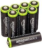 AmazonBasics Vorgeladene Ni-MH AA-Akkus - Akkubatterien 8 Stck