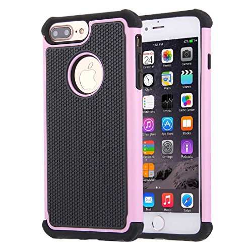 Hülle für iPhone 7 plus , Schutzhülle Für iPhone 7 Plus Ball Texture Separate TPU + PC Schock-resistenten Kombination Fall ,hülle für iPhone 7 plus , case for iphone 7 plus ( Color : Grey ) Pink
