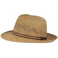 Strohoed   zomerhoed   zonnehoed - handgevlochten van 100% stro - Bogart - bijzonder licht, flexibel, huidvriendelijk en comfortabel - natuur