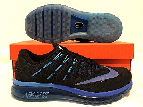 Nike Air Max, Chaussures de Running Entrainement Homme, Gris Blk/Mlt-Clr-Dp Ryl Bl-Hypr Bl