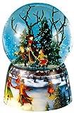 Spieluhrenwelt 46070 - Palla di Vetro con Neve, Motivo: Pattinatori