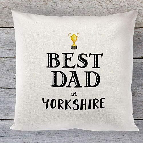 Artylicious Best Dad in (Your Town), cojín de Lino Personalizable para el día del Padre