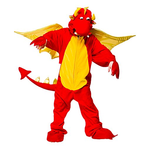 Fire Breathing Dragon - Kids Costume Animal Fancy Dress (Leuchtende Fancy Dress Kostüm)