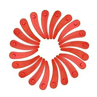 chuancheng 20 Stück Kunststoff Ersatz-Klingen für Bosch Art 26-18Li, Art 23-18 Li,1083-B3-0009 Rasenmäher Rasentrimmer