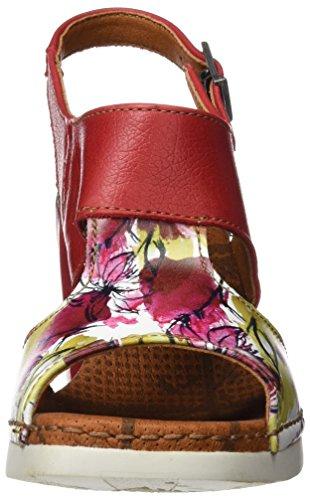 ART 0546 Fantasy Cannes, Sandali con Cinturino alla Caviglia Donna Multicolore (Flowers)