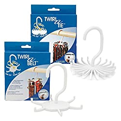 Prime World - The Worlds Most Unique Spinning Practical Tie & Belt Hanger Organizer - 2 Pcs Combo Set