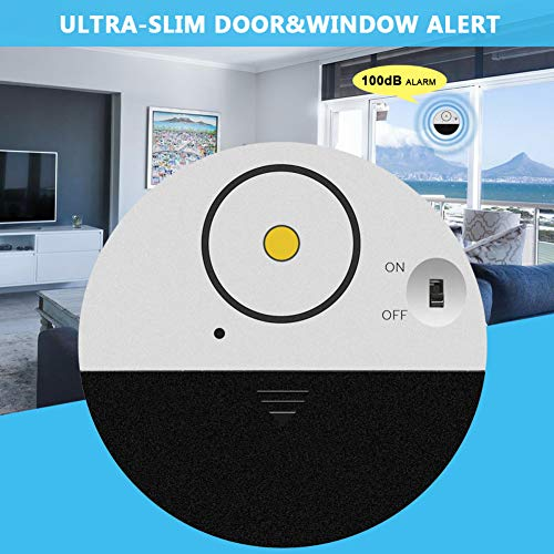 DarweirlueD Home Electronics Security 100dB Wireless Door Window Alarm Vibration Alert Sensor Super...