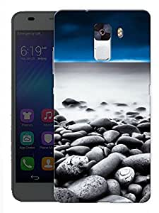 """Humor Gang Rocks Sand Beach Printed Designer Mobile Back Cover For """"Huawei Honor 7"""" (3D, Matte Finish, Premium Quality, Protective Snap On Slim Hard Phone Case, Multi Color)"""