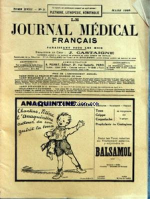 JOURNAL MEDICAL FRANCAIS (LE) [No 3] du ...