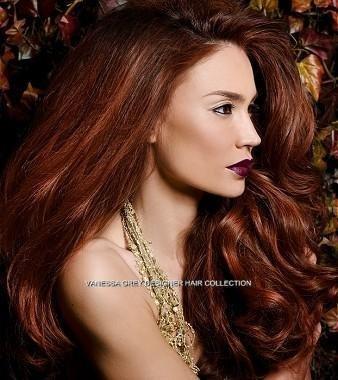 Estensioni set sembra vero ginger extension capelli (or rame rosso) 24 inch extra long