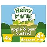 Heinz Pear and Apple Custard Dessert Pots, 4 x 100 g (Pack of 3)