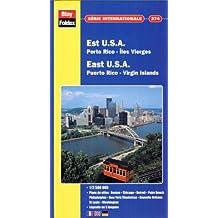 Carte routière et touristique : U.S.A. Est - Porto-Rico - Îles Vierges, N° 374 (avec un index)