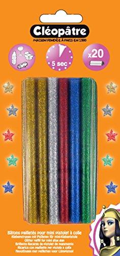 Cleopatre - PO20RGP - Pack de 20 barritas de 4 pinturas 3D, con purpurinas