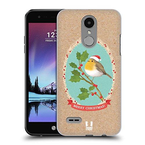 Head Case Designs Rotkelchen Weihnachtsklassiker 2 Ruckseite Hülle für LG K4 (2017) / Phoenix 3