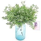 Queta Künstliche Blume, beflocktes Geweih, Gras mit Perlen, Handblume mit Gras